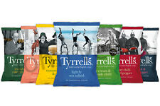 TYRRELLS   7 Flavours - Hand Cooked Potato Crisps 40g (24 Packs)   FREE DELIVERY