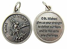 Archangel Saint St Michael with Prayer Protection Medal Pendant, 3/4 Inch