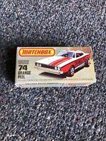 Vintage Matchbox Lesney Superfast 74 Orange Peel Empty Repro K Style Box