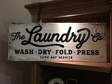 Laundry room Rustic Distressed Wood Sig, HGTV, wash, dry, fold, press, FREE SHIP