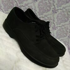 Stonefly Absolute Comfort Mens 7.5 Oxford Shoes Shock Air Black Nubuck Italy