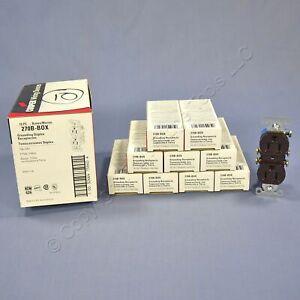 10 Cooper RESIDENTIAL GRADE Brown Outlet Receptacles NEMA 5-15R 15A 125V 270B