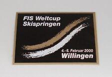 Aufkleber Weltcup Skispringen 04. - 06.02.2000 Willingen - 10 x 7,5 cm