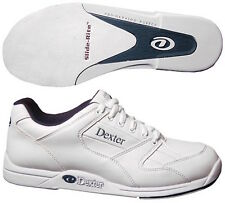 New Dexter Men's Ricky White Bowling Shoes Size 7.5 Universal Soles
