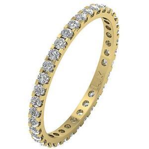 Eternity Wedding Ring I1 G 1.01Ct Round Diamond 14K White Gold Appraisal 2.50MM