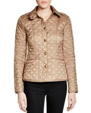 NEW $595 Burberry Kencott Quilted Jacket, Color Pale Fawn, Size XXL