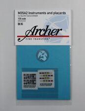 Archer 1/35 M35A2 Cargo Truck Instruments & Placards (AFV Club #35004) AR35332