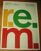 R.E.M. STIPE ROCK CONCERT POSTER SWISS PUNK GRAPHIC POP ART REYNOLDS HIGH NC