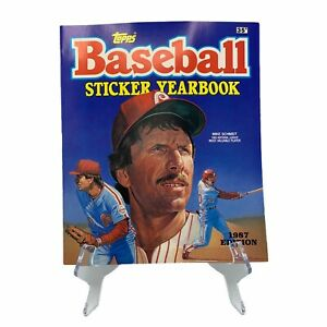 1987 Topps MLB Baseball Sticker Yearbook UNUSED Empty New Mike Schmidt 1986 MVP