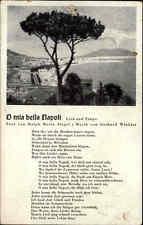 Musik Lied Motiv-AK ~1940 O mia bella Napoli Tango Text Siegel und Musik Winkler