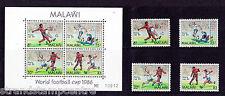 Malawi - 1986 World Cup Football - U/M - SG 746-9 + MS 750