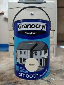 Leyland Granocryl Smooth Masonry Paint - 5L, Magnolia
