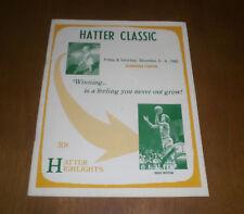 1980 HATTER CLASSIC BASKETBALL HIGHLIGHTS GUIDE - STETSON UNIVERSITY