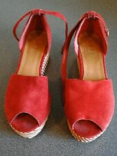 Office Red suede platform shoes,  used EU 38  wear as shown