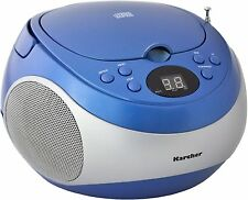 Karcher RR 5020-C Cobold tragbarer CD-Player Radio AUX-In Boombox Stereo blau