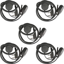 5pcs New Retevis D-type Earhook Earpiece for Kenwood KPG/TH/TK Baofeng Radios