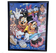 Walt Disney Mickey Mouse And Friends Print Picture Art Frame 8x10 Movie Night