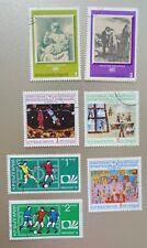Vintage Postage Stamps Bulgaria Mining, Space, Soccer & Art