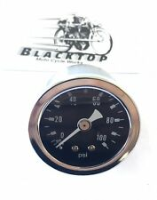"Oil Pressure Gauge - Will suit any motorcycle 0 -100psi Gauge 1 3/4"" Diameter"