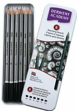 Derwent Academy TIN di 6 matite grafite Disegno 3B - 2 H artista COLLEGE ART