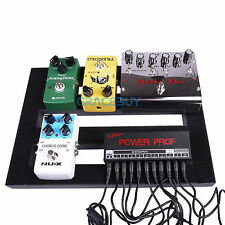 Guitar Effects Pedalboard Aluminum Pedal Board with Magic Cable Straps Ties NEW