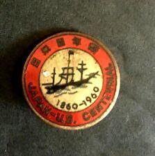 """VIntage  Japan – US Centennial Red Enamel Pin 5/8"""" –1960"""