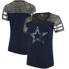 NFL Dallas Cowboys Women's  Navy Ruthdale V-Neck T-Shirt, X-Large