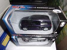 MAISTO 1/36 RENAULT SPORT CLIO V6 NOIRE MOTORIZED NEUF EN BOITE