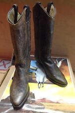 New Abilene Women's Bomber Leather Brown Cowboy Western Boots Size 5M
