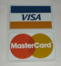 Vintage Visa / MasterCard Credit Card Logo Decal Sticker Display