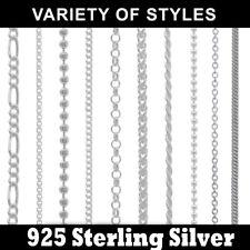 Bulk 10p 925 Sterling Silver Jewellery Necklace Chain Lobster Clasper Pick Style