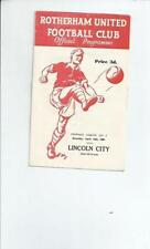 Lincoln City Away Team Division 2 Football Programmes