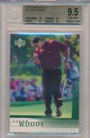 2001 Upper Deck Tiger Woods Rookie Card #1 BGS 9.5 Gem Mint High Subgrades #7506