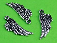 6 CHARMS ali d'angelo in argento tibetano CHARM  2,5 CM ciondolo pendente