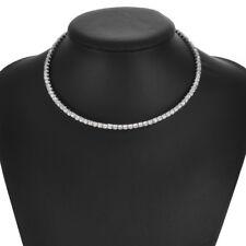 Crystal Rhinestone Silver Diamonds Choker Necklace for Girls Fashion Accessories