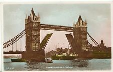 London Postcard - Tower Bridge - Real Photograph   ZZ1236