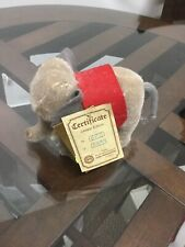 NWt Vintage Hermann Teddy Limited Edition German Elephant 602/5000 New With Tags