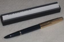 "PARKER ""51"" Vacumatic Fountain Pen, c.1948, Blue Cedar w/Gold Filled Cap"