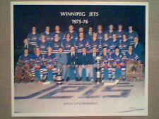 WINNIPEG JETS 1975-76 ORIGINAL 10 X 12 WHA AVCO CUP CHAMPION PHOTO