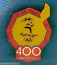 #P36.  SYDNEY 2000 OLYMPIC COUNTDOWN PIN - 400 DAYS TO GO, COLOURED