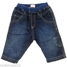 Baby Boy TIMBERLAND Pull On Denim Jeans With 6 Pockets 100% Authentic ~ Newborn