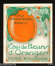 10 ETIQUETTES PARFUM : EAU DE FLEURS D'ORANGER Au Printemps Paris