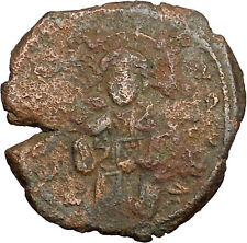 JESUS CHRIST Class C Anonymous Ancient 1034AD Byzantine Follis Coin  i39447