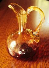 Antique Hand Blown Glass Coin Spot Pitcher- late 1800's- early 1900's