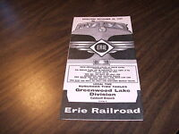 DECEMBER 1959 ERIE RAILROAD FORM 8 GREENWOOD LAKE DIVISION PUBLIC TIMETABLE