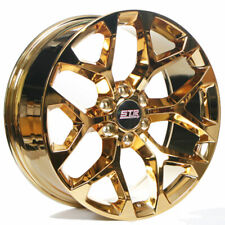 "24"" STR Wheels 701 Candy Gold Snowflake Replica Rims Fit Silverado 1500 (B10)(Fits: 2011 Kia)"