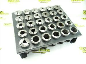 """30PC LOT OF 5C COLLETS 1/16"""" TO 1-1/8"""" + NEW COLLET RACK"""