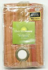 """Boca Striped Thermosave™ 50"""" x 95"""" Grommet Window Panel in Spice"""