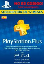 Playstation Psn Plus 12 Meses 365 Dias 1 Año Ps4-no codigo