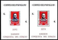 Paraguay 1963 Space Conquest x2 S/S (perf/imperf) Mnh Gordon Cooper